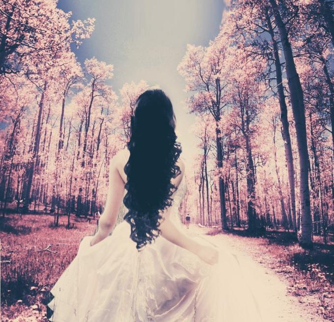 black-hair-girl-nature-photography-pink-Favim.com-333378